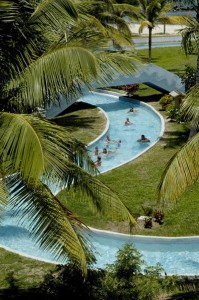 The lazy river at the Coconut Bay & Spa Resort in St. Lucia