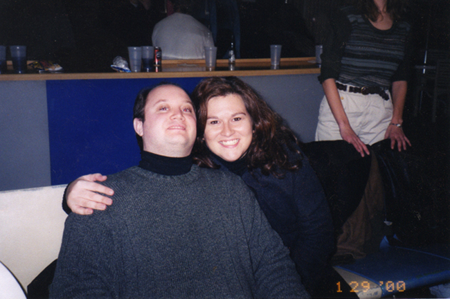 Me and Tom, dating in 2000.