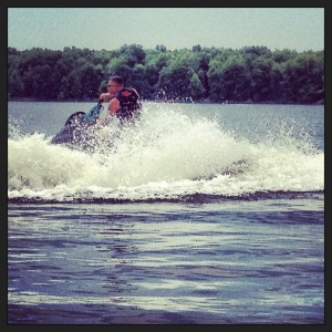 My brother Tommy testing the limits of the jet ski.