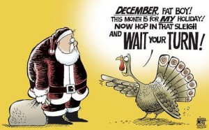 Santa/Turkey Cartoon