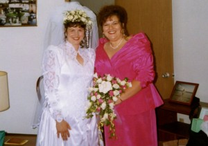 Hot pink bridal gowns